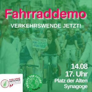 Fahrraddemo 14.08.